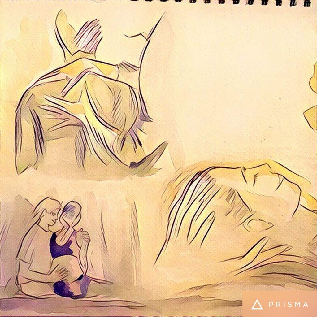 Zeichnung von osteopathischen Techniken